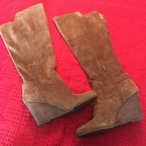 BCBG suede tall slouch boots - 8.5